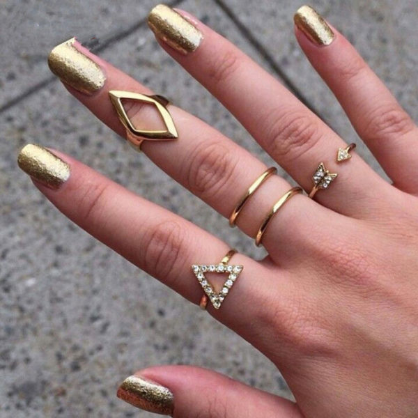 buy geometrical midi rings set of 5 online in pakistan sasta pk