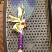 Blue White & Purple Combination Nikah Pen Made with Kalabattu & Artificial Leaf from Singapore