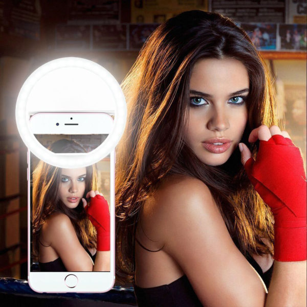 Selfie Flashlight Ring Clip