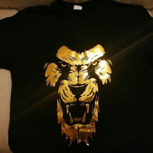 Golden Print Roaring Lion T-Shirts